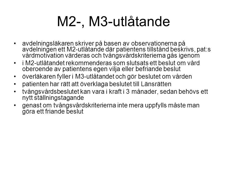 M2-, M3-utlåtande