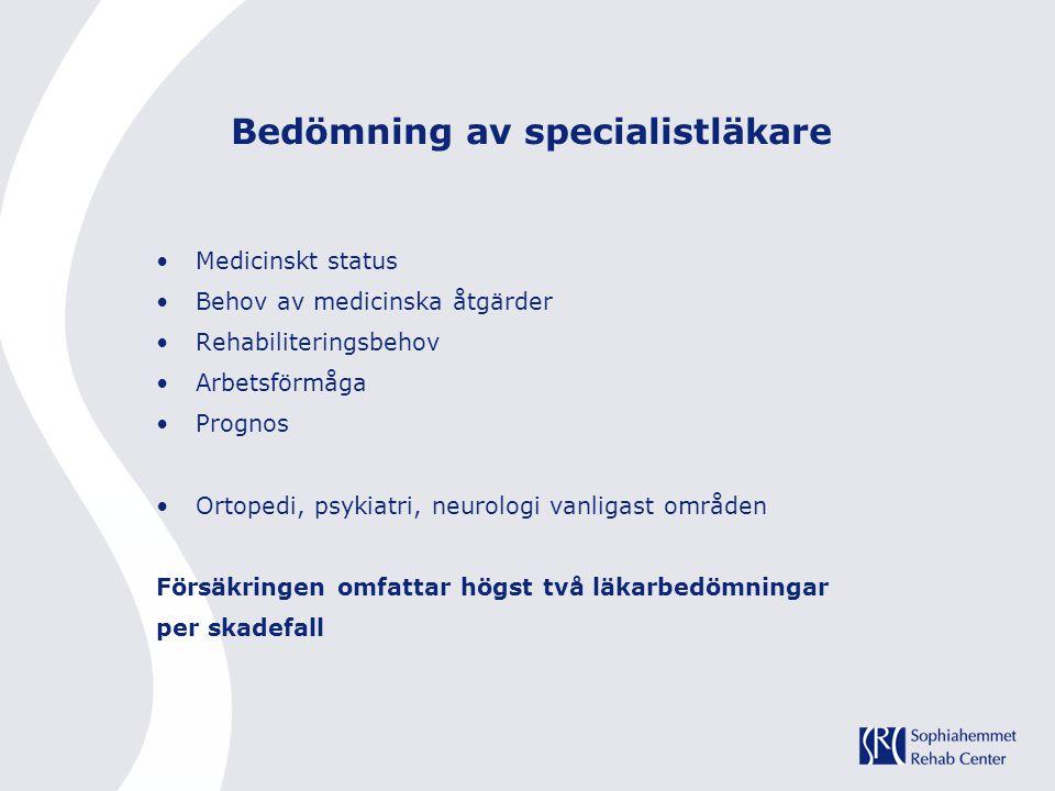 Bedömning av specialistläkare