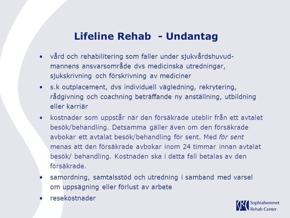 Lifeline Rehab - Undantag