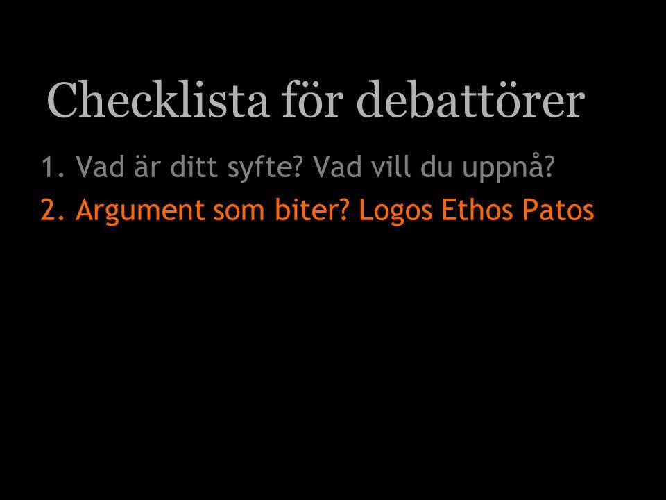Checklista för debattörer