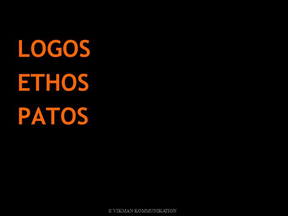LOGOS ETHOS PATOS © VIKMAN KOMMUNIKATION