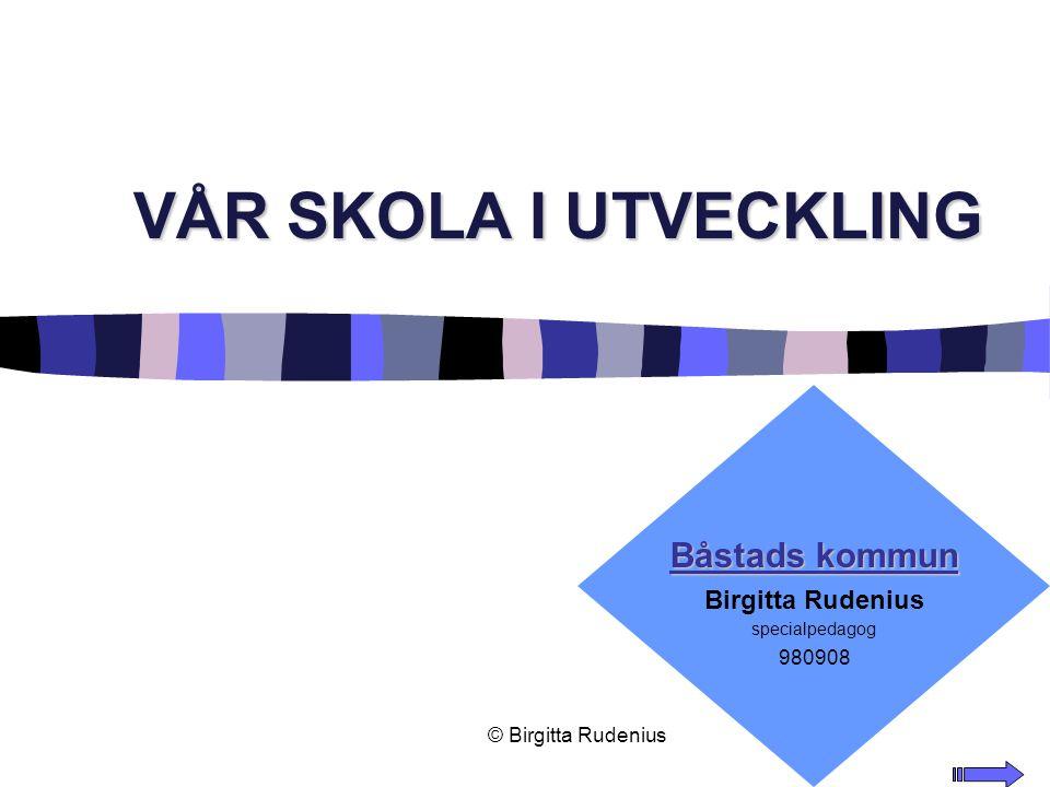 VÅR SKOLA I UTVECKLING Båstads kommun Birgitta Rudenius 980908