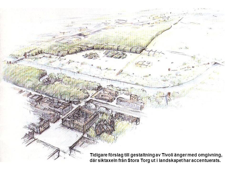 Tidigare förslag till gestaltning av Tivoli änger med omgivning,