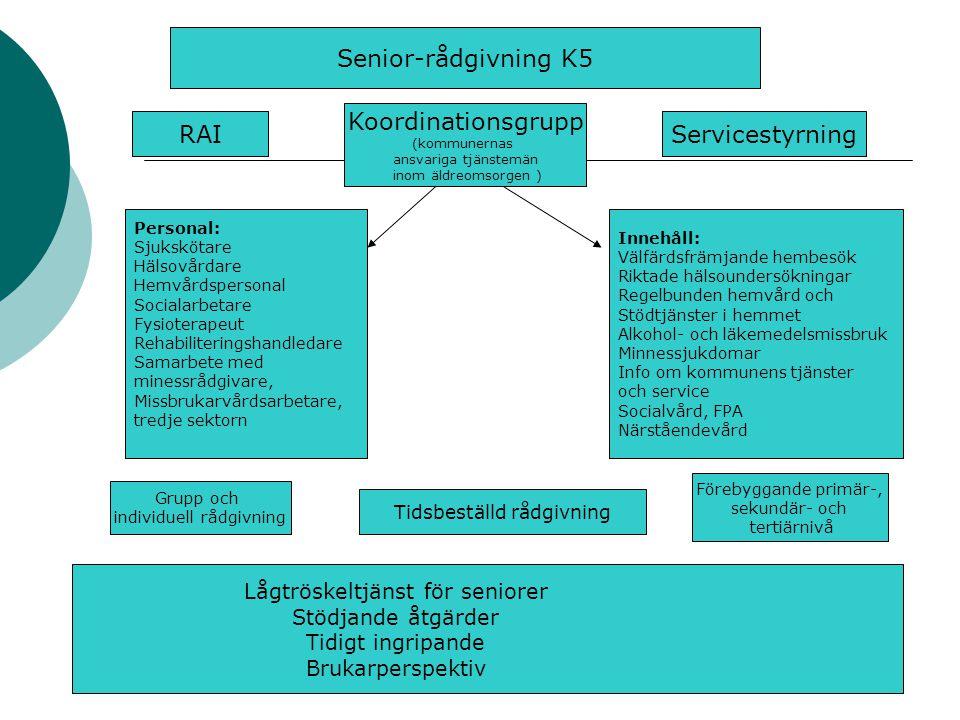 Senior-rådgivning K5 Koordinationsgrupp RAI Servicestyrning