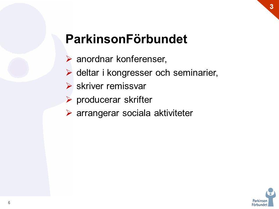 ParkinsonFörbundet anordnar konferenser,