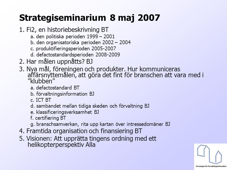 Strategiseminarium 8 maj 2007