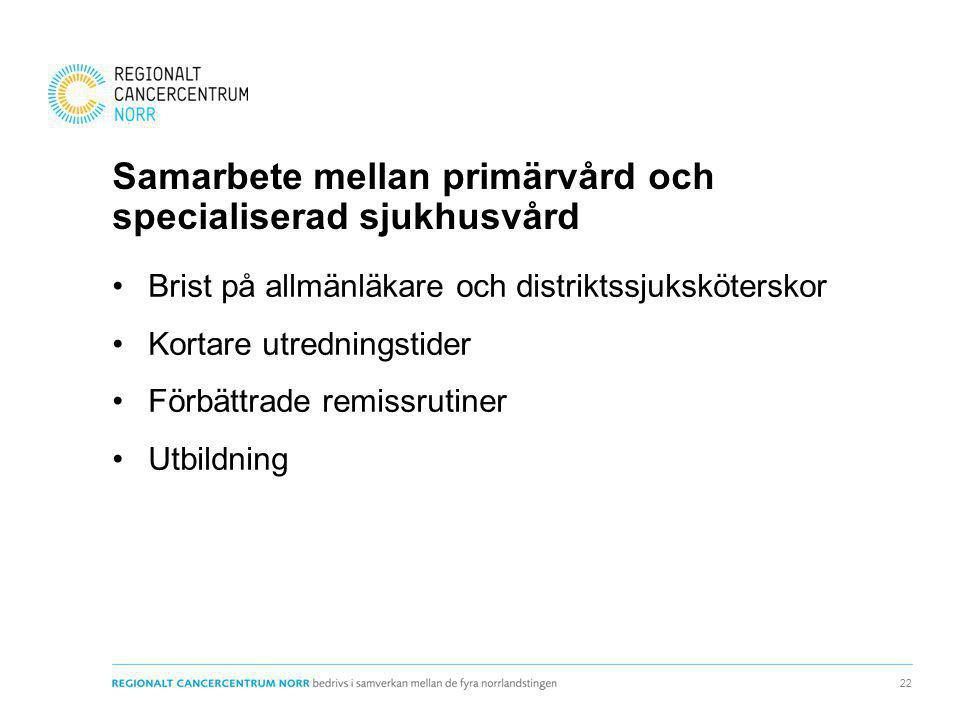 Samarbete mellan primärvård och specialiserad sjukhusvård