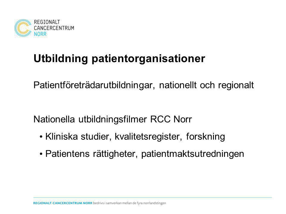 Utbildning patientorganisationer