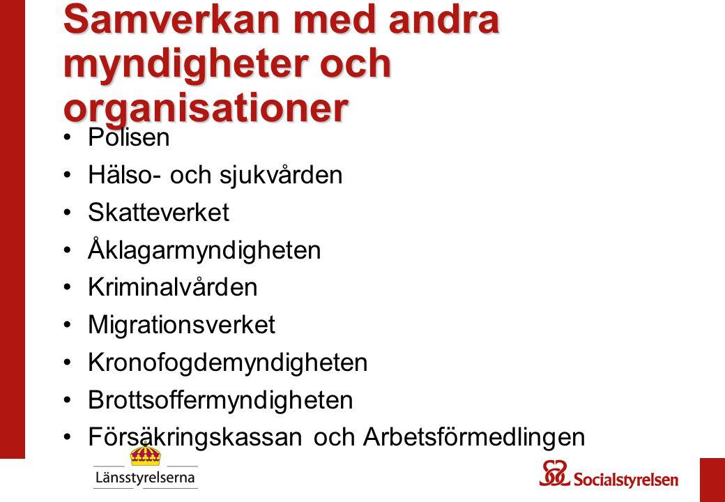 Samverkan med andra myndigheter och organisationer
