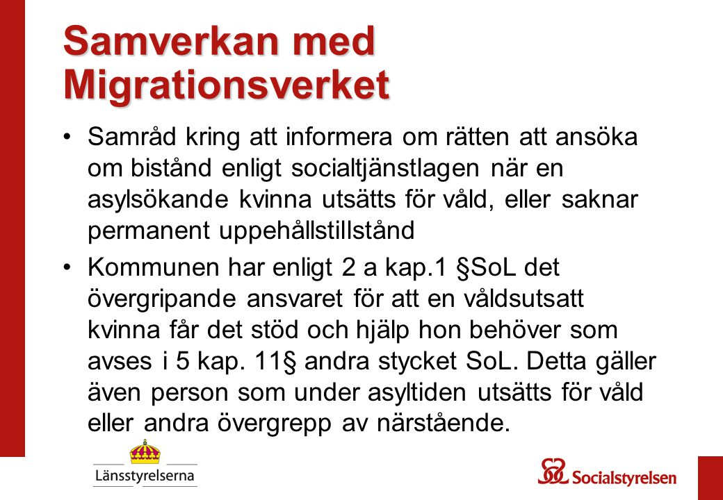 Samverkan med Migrationsverket