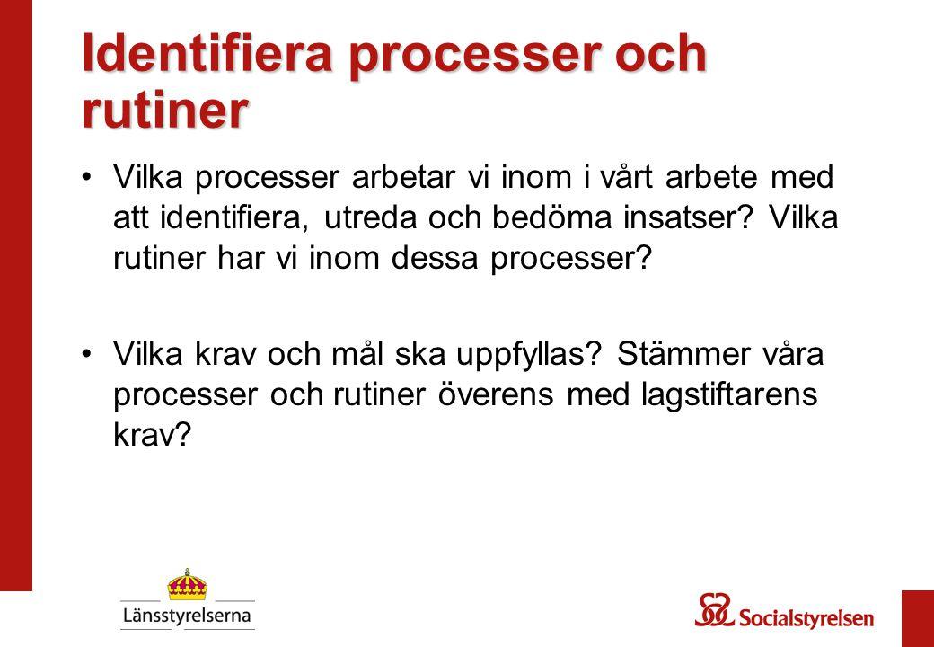 Identifiera processer och rutiner