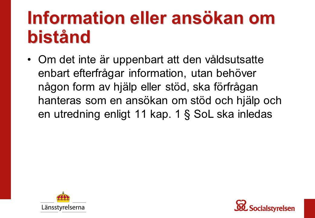 Information eller ansökan om bistånd