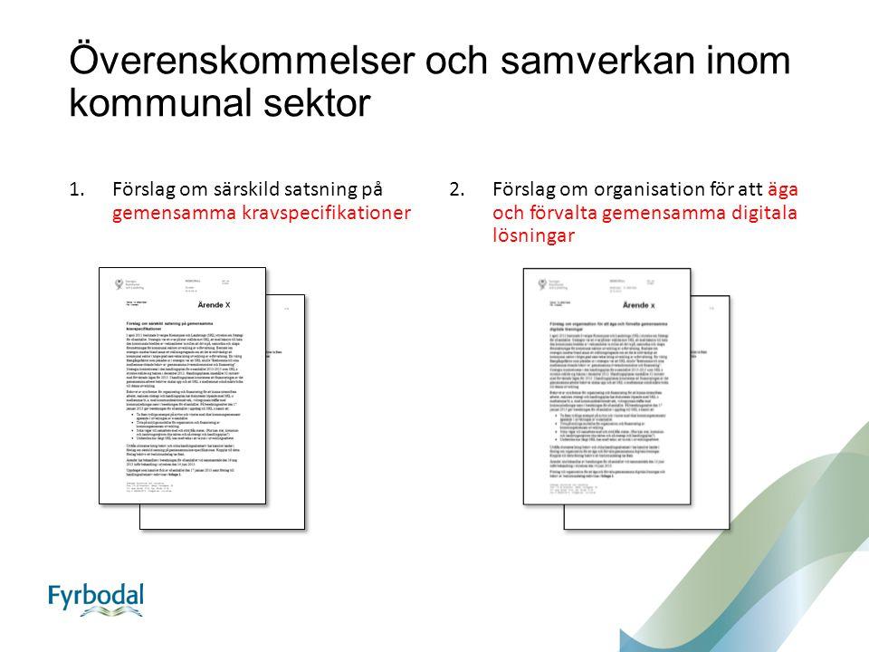 Överenskommelser och samverkan inom kommunal sektor