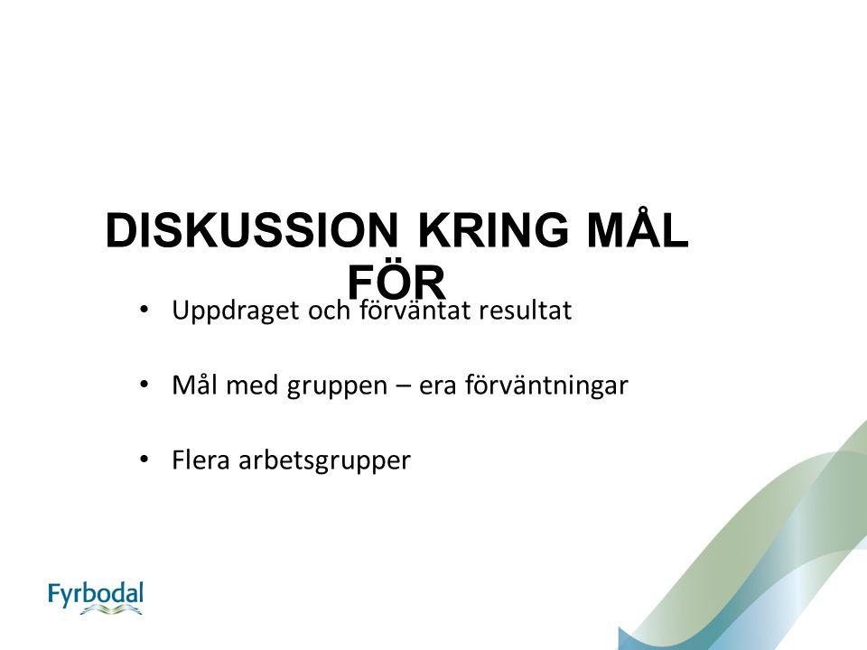DISKUSSION KRING MÅL FÖR