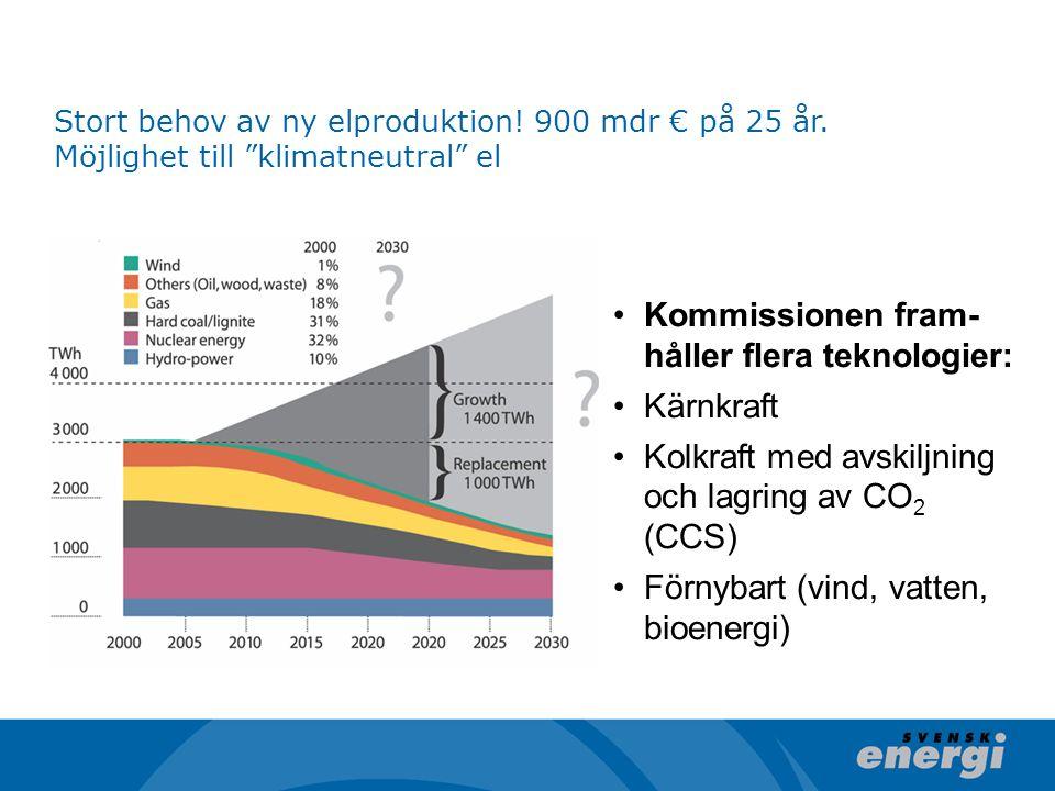 Kommissionen fram-håller flera teknologier: Kärnkraft