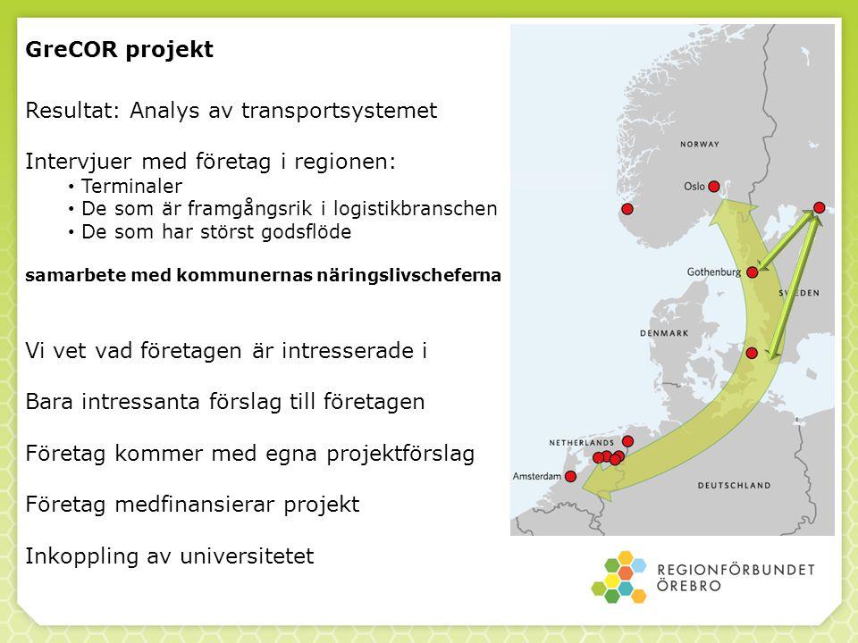 Resultat: Analys av transportsystemet