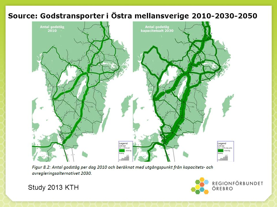 Source: Godstransporter i Östra mellansverige 2010-2030-2050