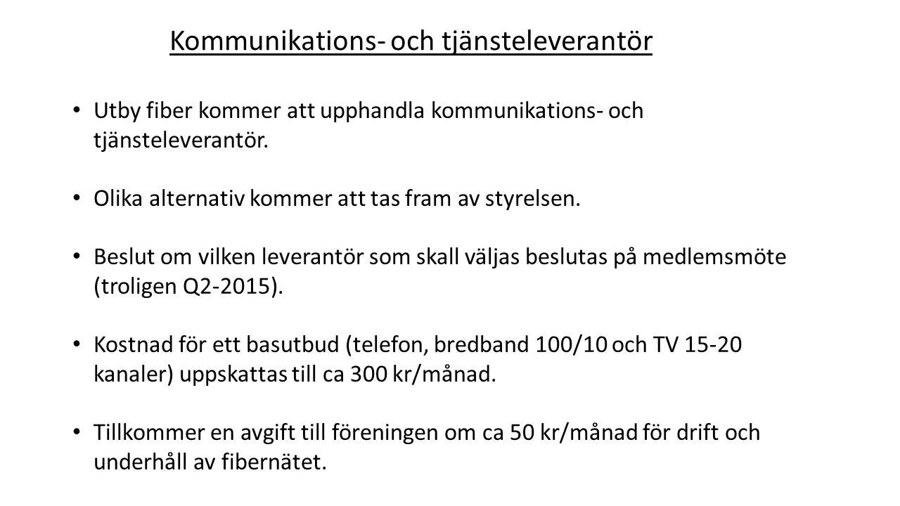Kommunikations- och tjänsteleverantör