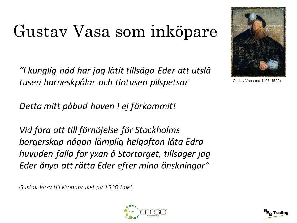 Gustav Vasa som inköpare