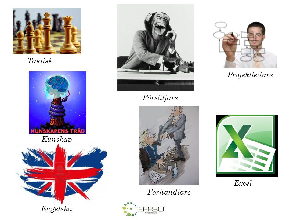 Taktisk Projektledare Försäljare Kunskap Excel Förhandlare Engelska