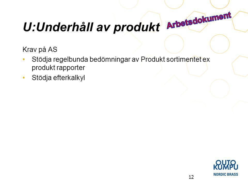 U:Underhåll av produkt