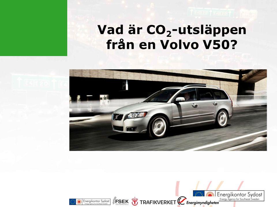 Vad är CO2-utsläppen från en Volvo V50