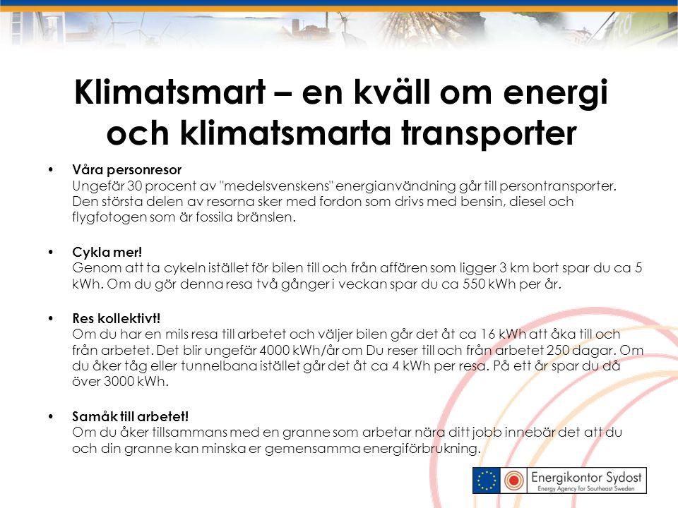 Klimatsmart – en kväll om energi och klimatsmarta transporter