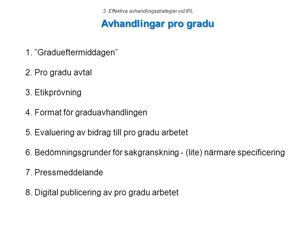 Avhandlingar pro gradu
