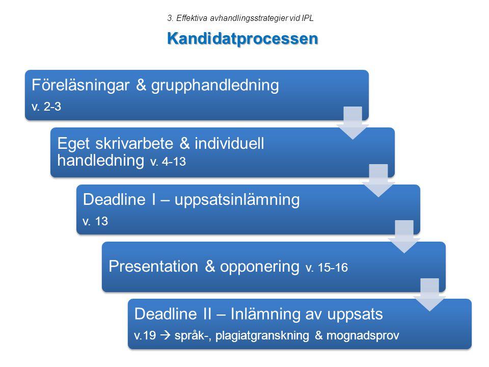3. Effektiva avhandlingsstrategier vid IPL