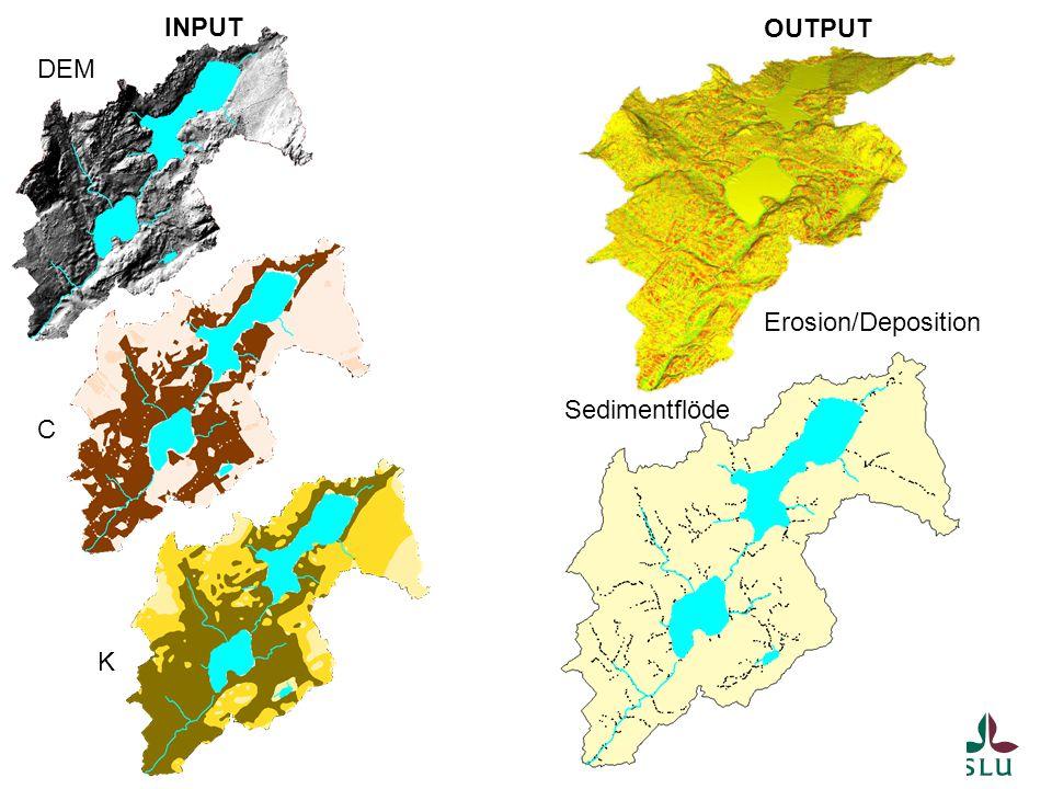 INPUT OUTPUT DEM Erosion/Deposition Sedimentflöde C K