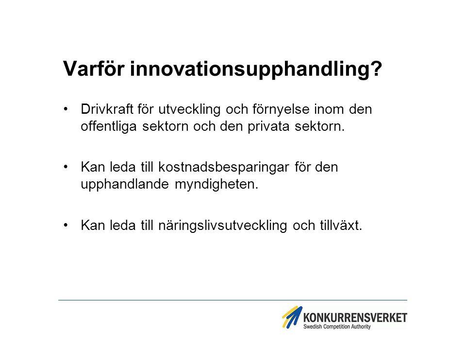 Varför innovationsupphandling