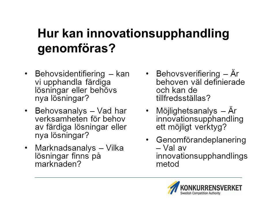 Hur kan innovationsupphandling genomföras