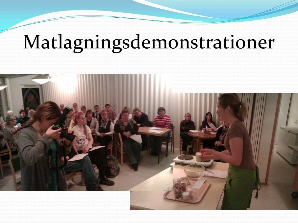 Matlagningsdemonstrationer