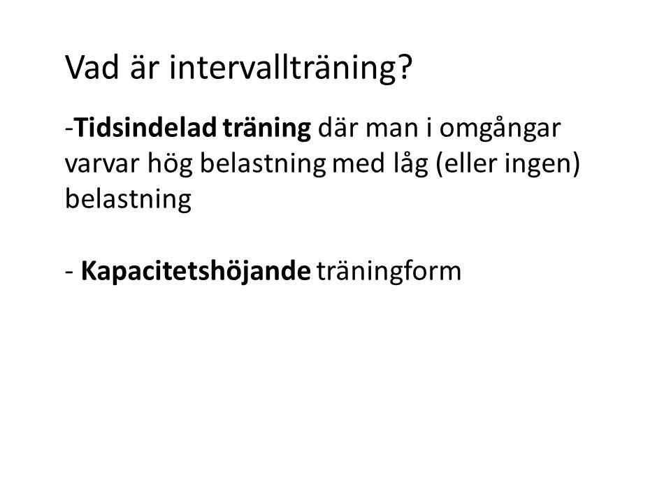 Vad är intervallträning