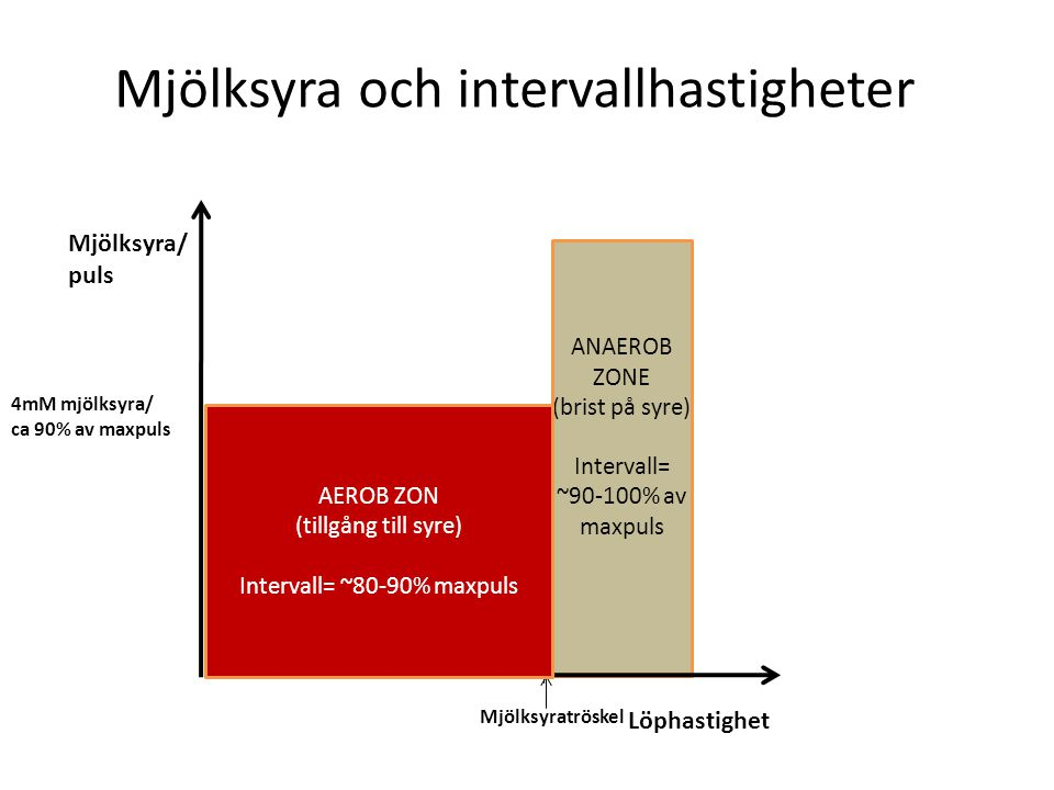 Intervall= ~80-90% maxpuls