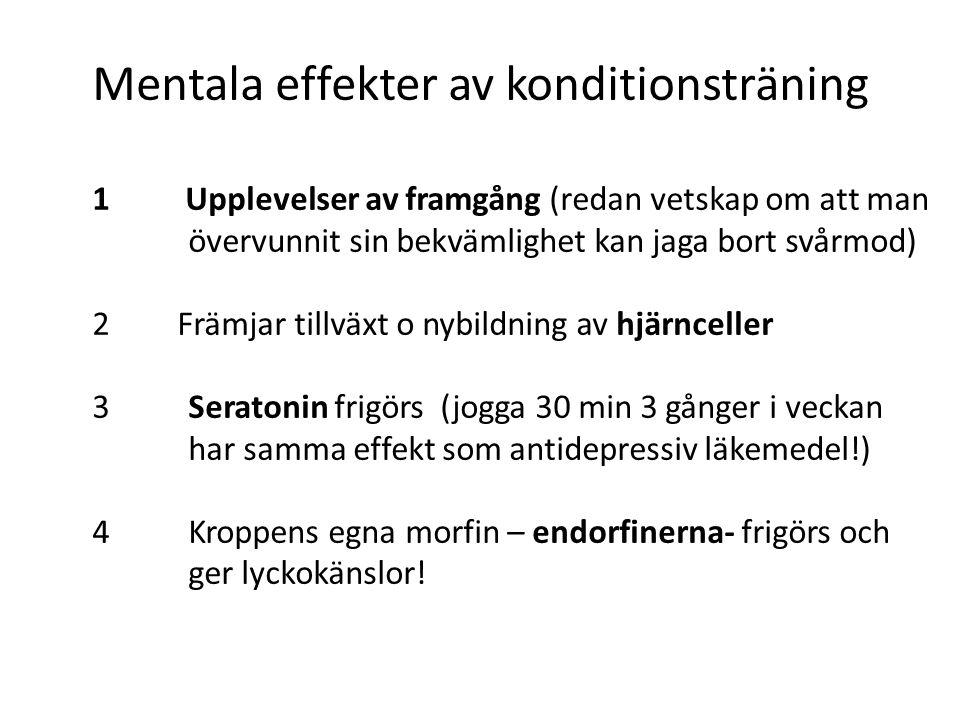 Mentala effekter av konditionsträning