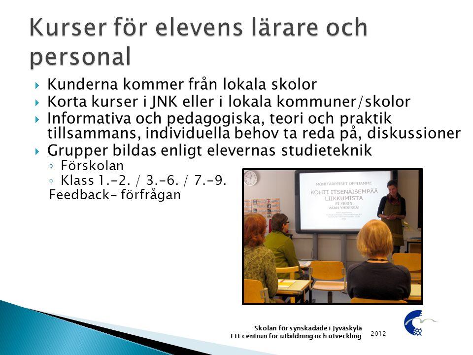Kurser för elevens lärare och personal