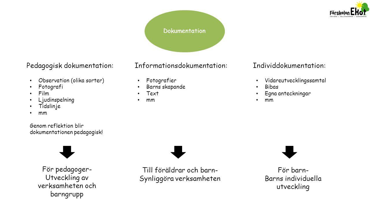 Pedagogisk dokumentation: Informationsdokumentation: