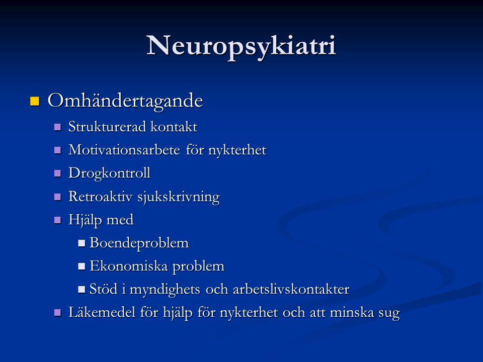 Neuropsykiatri Omhändertagande Strukturerad kontakt