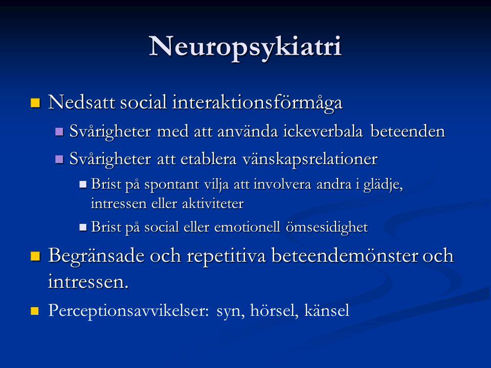 Neuropsykiatri Nedsatt social interaktionsförmåga