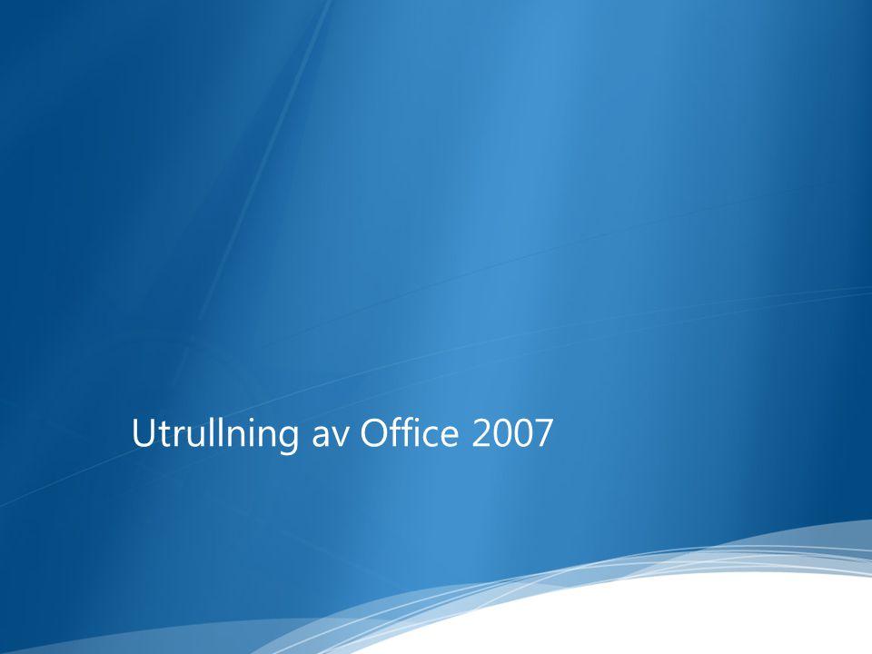 Utrullning av Office 2007