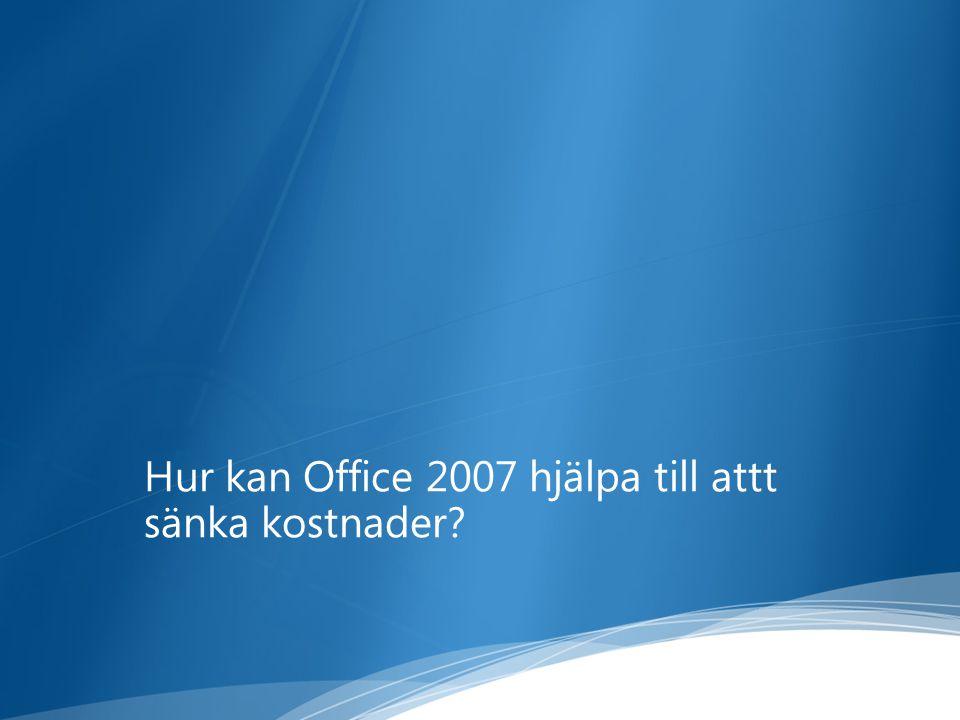 Hur kan Office 2007 hjälpa till attt sänka kostnader