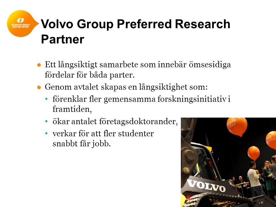 Volvo Group Preferred Research Partner