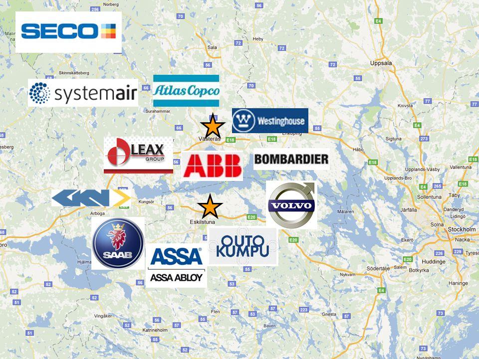 12 stor- och globala företag i regionen.