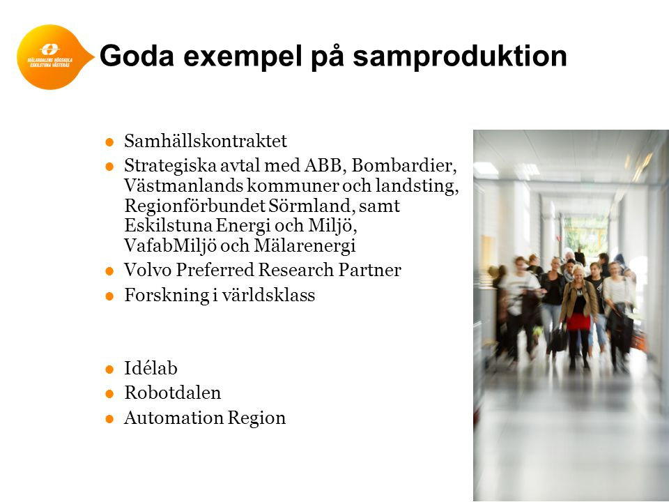 Goda exempel på samproduktion