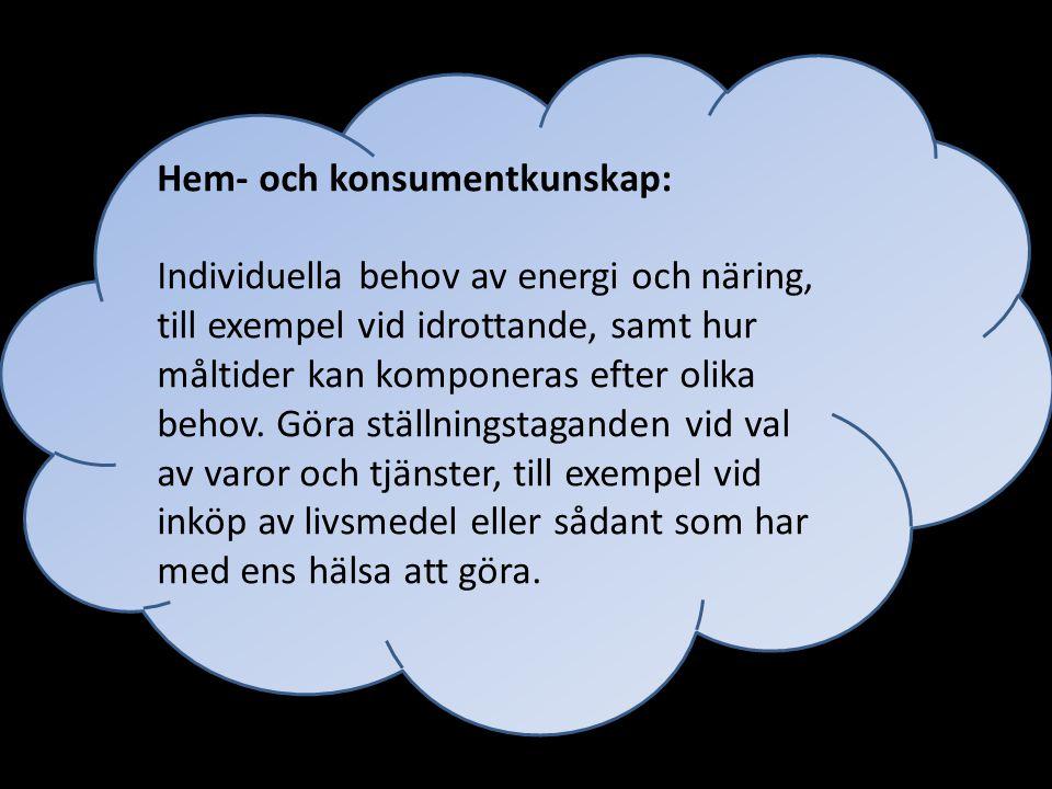 Hem- och konsumentkunskap: