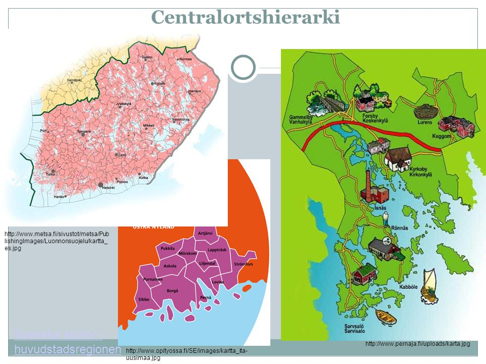 Centralortshierarki Svenska skolor i huvudstadsregionen