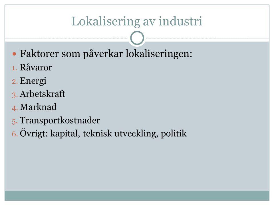 Lokalisering av industri