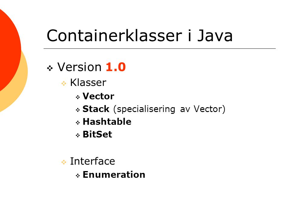 Containerklasser i Java