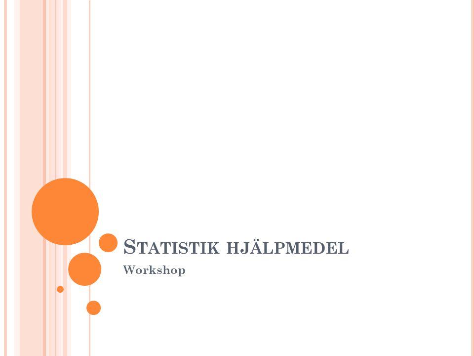 Statistik hjälpmedel Workshop